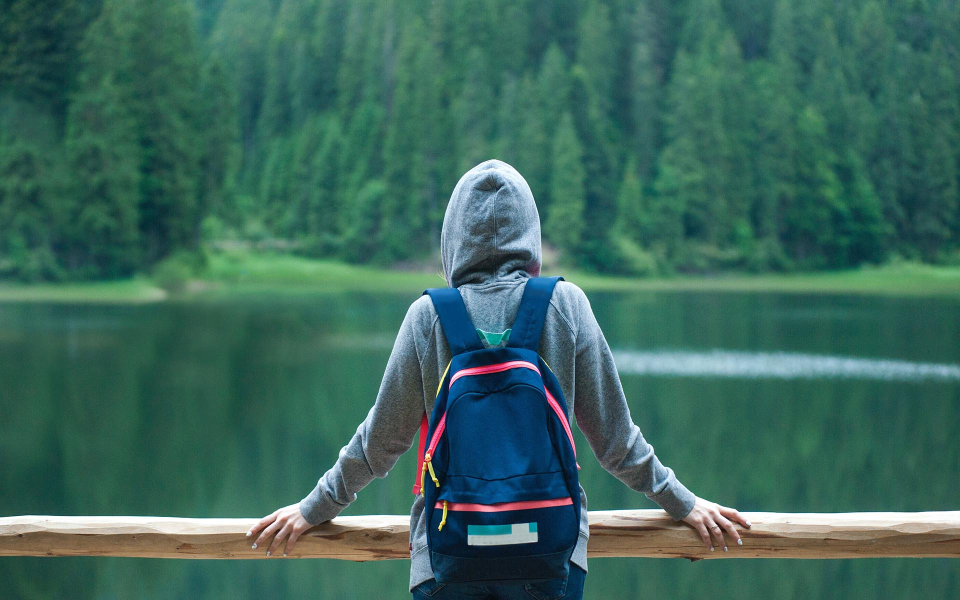 Image of person standing alone celebrating National Introverts Week