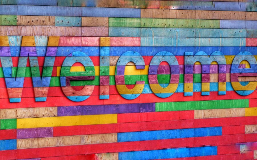 colorful welcome sign for blog about effective onboarding
